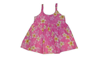 Girl's Bungee Dress 6M / Pink Plumeria Girl's Hawaiian Bungee Dress