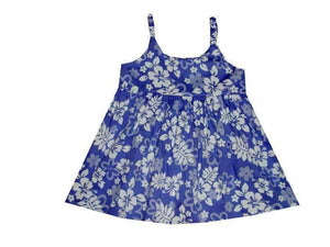 Girl's Bungee Dress 6M / Purple Floral Silhouette Girl's Hawaiian Bungee Dress