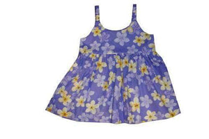 Girl's Bungee Dress 6M / Purple Plumeria Girl's Hawaiian Bungee Dress