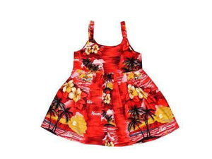 Girl's Bungee Dress 6M / Red Classic Discovery Girl's Hawaiian Bungee Dress