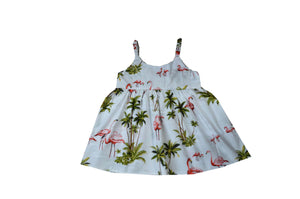 Girl's Bungee Dress 6M / White Flamingo Fever Girl's Hawaiian Bungee Dress