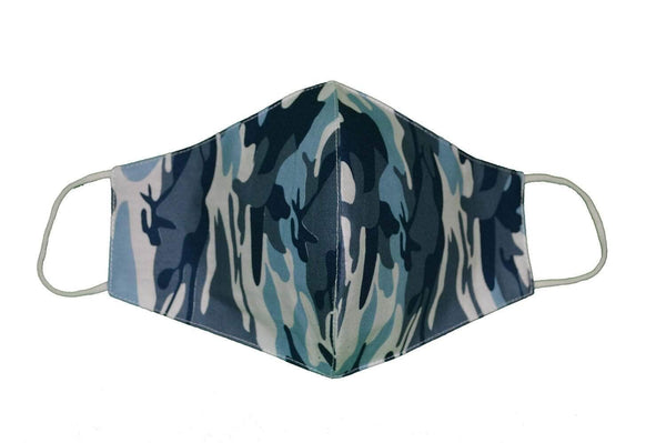 Mask Arctic Blue Camo Cloth Face Mask