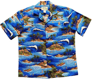 Hawaiian Shirt Big Wave Expadition Hawaiian Shirt