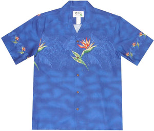 Ky's Navy Bird of Paradise Hawaiian Shirt