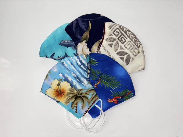 Mask PACK OF 5 Keiki Hawaiian Cloth Face Mask