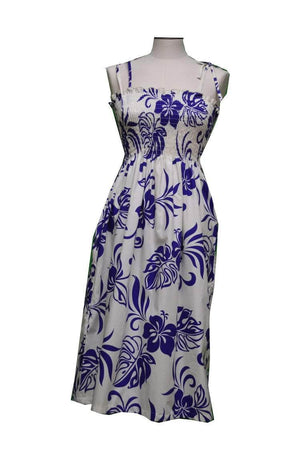 Tube Dress Purple / Midi Aloha Spirit Hawaiian Tube Dress
