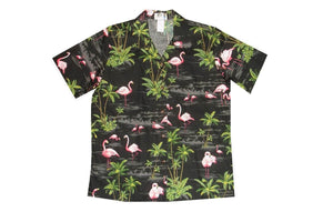 Hawaiian Blouse S / Black Flamingo Fever Women's Hawaiian Shirt