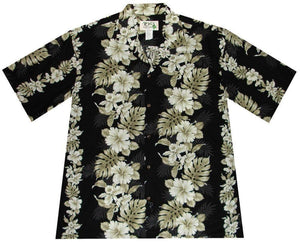 Hawaiian Shirt S / Black Floral Lei Hawaiian Shirt