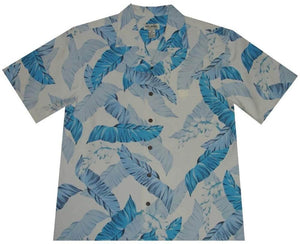 Hawaiian Shirt S / Blue Elegant Ferns Hawaiian Silk Shirt