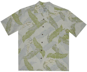 Hawaiian Shirt S / Green Elegant Ferns Hawaiian Silk Shirt