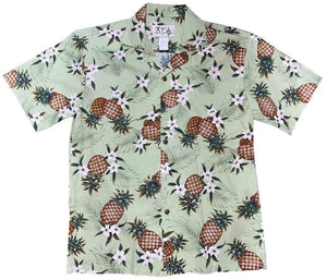 Hawaiian Shirt S / Green Pineapple Mania Hawaiian Shirt