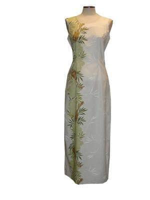 Long Tank Dress S / Green Ukulele Passion Long Tank Hawaiian Dress