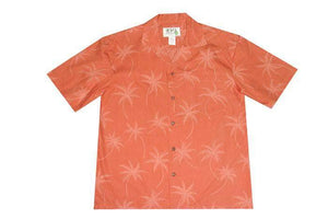 Hawaiian Shirt S / Orange Palm Tree Shadows Hawaiian Shirt