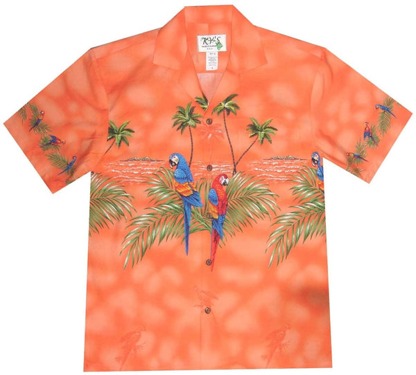Hawaiian Shirt S / Orange Parrot Paradise Hawaiian Shirt