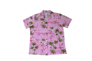 Hawaiian Blouse S / Pink Flamingo Fever Women's Hawaiian Shirt
