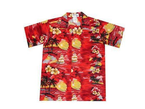 Boy's Hawaiian Shirts S / Red Classic Discovery Boy's Hawaiian Shirt