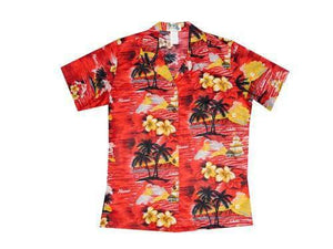 Hawaiian Blouse S / Red Classic Discovery Women's Hawaiian Shirt