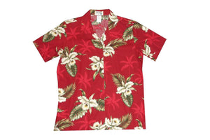 Hawaiian Blouse S / Red Classic Orchid Women's Hawaiian Shirt
