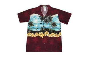Boy's Hawaiian Shirts S / Red Moonlight Surf Boy's Hawaiian Shirt