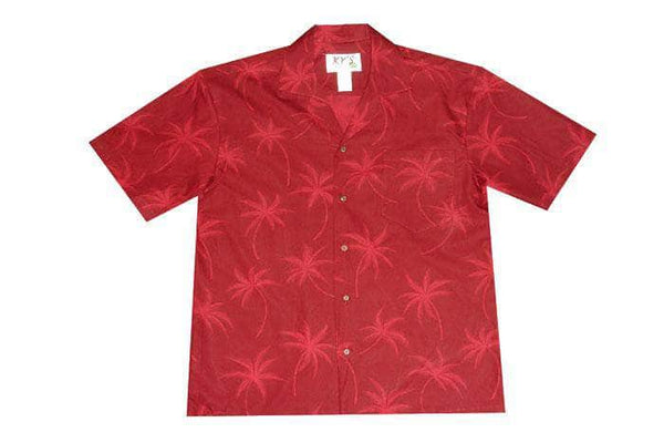 Hawaiian Shirt S / Red Palm Tree Shadows Hawaiian Shirt