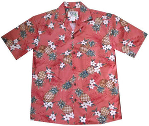 Hawaiian Shirt S / Red Pineapple Mania Hawaiian Shirt