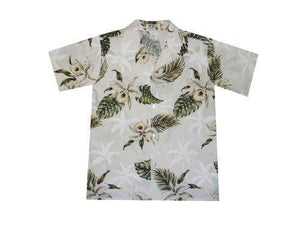 Boy's Hawaiian Shirts S / White Classic Orchid Boy's Hawaiian Shirt
