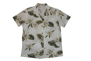 Hawaiian Blouse S / White Classic Orchid Women's Hawaiian Shirt