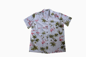 Hawaiian Blouse S / White Flamingo Fever Women's Hawaiian Shirt