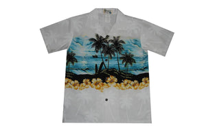 Boy's Hawaiian Shirts S / White Moonlight Surf Boy's Hawaiian Shirt