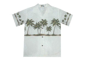 Boy's Hawaiian Shirts S / White Palm Tree Boy's Hawaiian Shirt