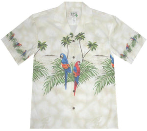 Hawaiian Shirt S / White Parrot Paradise Hawaiian Shirt