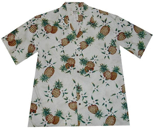 Hawaiian Shirt S / White Pineapple Mania Hawaiian Shirt