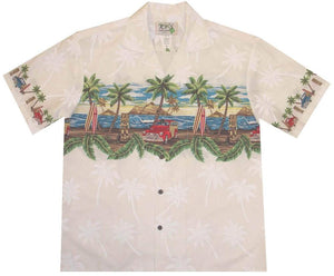 Hawaiian Shirt S / White Tiki and Woody Hawaiian Shirt