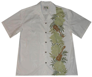 Ky's White with Green Ukulele Passion Hawaiian Shirt.