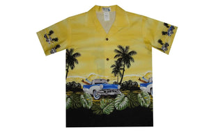 Boy's Hawaiian Shirts S / Yellow Classical Car Boy's Hawaiian Shirt