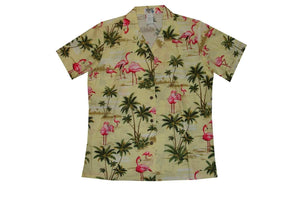 Hawaiian Blouse S / Yellow Flamingo Fever Women's Hawaiian Shirt
