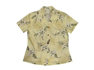 Girl's Hawaiian Blouse S / Yellow Garden Orchid Girl's Hawaiian Blouse