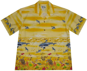 Hawaiian Shirt S / Yellow Great White Shark Hawaiian Shirt