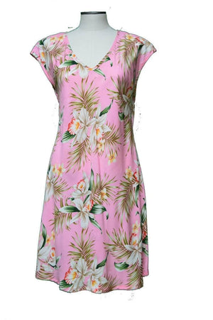 Short Paradise Dress XS / Pink Blooming Orchid Hawaiian Short Paradise Dress
