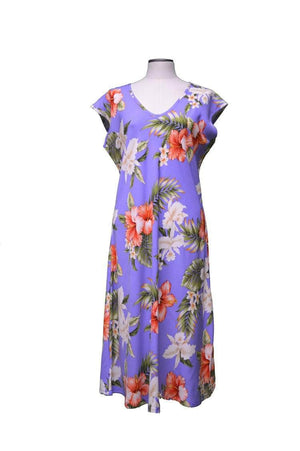 Paradise Dress XS / Purple Majestic Hibiscus Hawaiian Paradise Dress