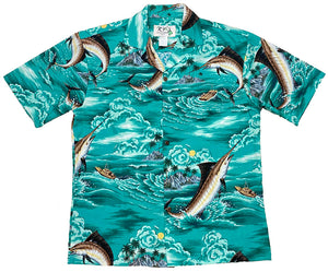 Ky's Tropical Blue Marlin Hawaiian Shirt