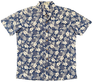Vintage Hibiscus Button Up Hawaiian Shirt