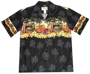 Ky's Black Woody Shack Hawaiian Shirt.