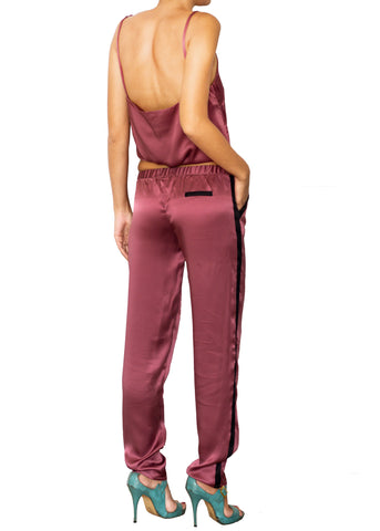 DEVOTA SILK LONG PANTS ROSÉ