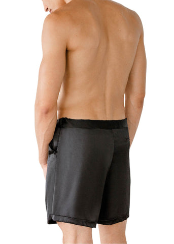 LEONARDO SILK SHORTS NERO BLACK