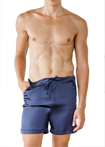 LEONARDO SILK SHORTS MAREBLU BLUE