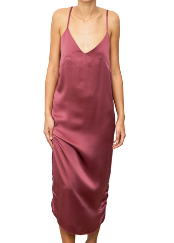 NUNZIATA SILK LONG DRESS ROSÉ