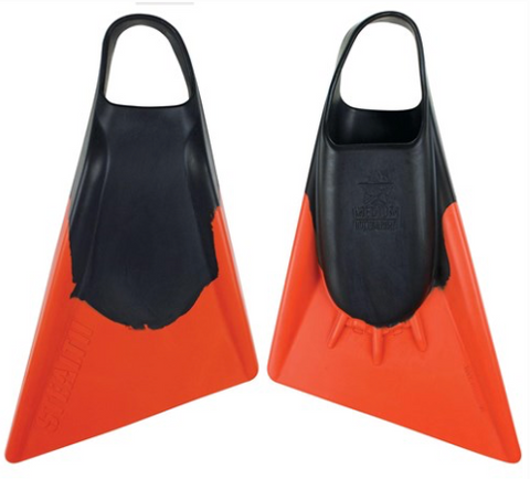 Stealth 2 Bodyboard Fins - Black / Orange