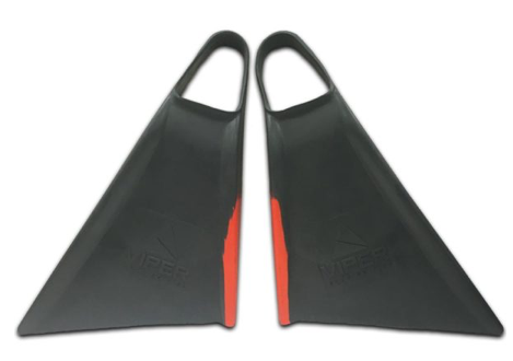 MS Viper Delta Bodyboard Fins - Grey / Red