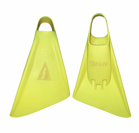 Thrash Bodyboarding Pro Tech Fins Yellow